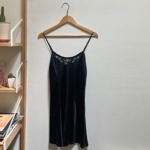 Vintage Black Victoria's Secret Silk Slip, Size M